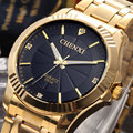 CHENXI top quality Clock gold Fashion Men watch full gold Stainless Steel Quartz watches Wrist Watch