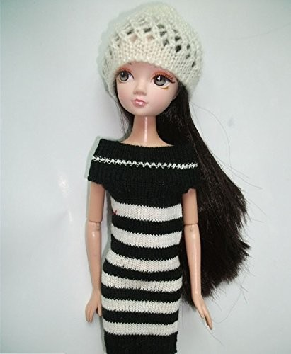 Vogue Mini Black and white stripes Sweater Costume For Barbie Doll