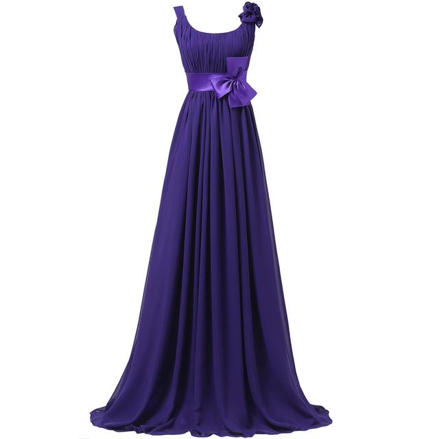Грейс карин длиной до пола фиолетовый шифон длинные вечерние платья для матери невесты ...