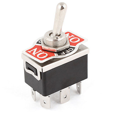 AC 250V/10A 125V/15A DPDT 3 Position ON/OFF/ON 6 Pins Toggle Switch Replacement(China (Mainland))