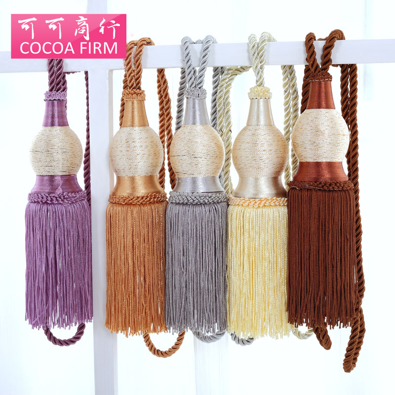 one pair curtain tassel Europe Home Decoration Window curtain clips accessories Hanging Belt Ball Curtain strap Tie Buckle(China (Mainland))