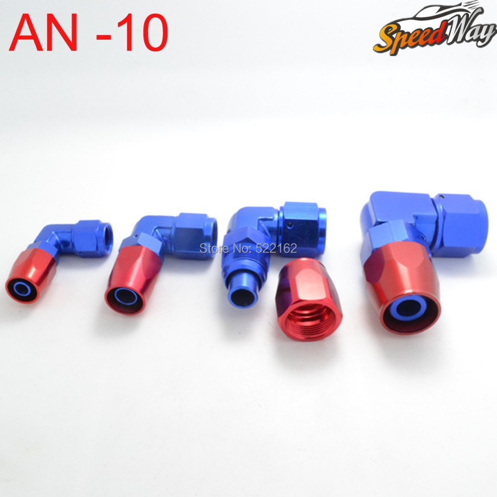 10 AN Fitting AN 10 90 Degree Enforced Aluminum Hose End Fittings Oil Fuel Adapter<br>