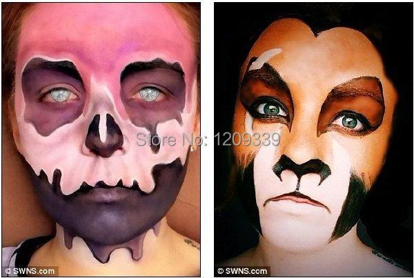 Cow Costume Face Paint Makeup Kit - Mugeek Vidalondon
