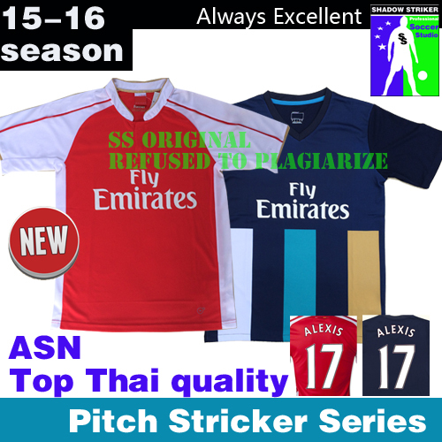 2015 2016 new arrival Top Thai quality football Jersey ALEXIS OZIL WILSHERE RAMSEY 15 16 Football Jerseys shirt Premier League(China (Mainland))