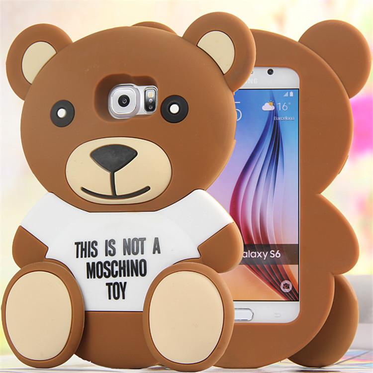 3D Cute Cartoon Brown Bear Soft TPU Silicone Rubber Case Samsung Gaxaly S4 S5 S6 Edge plus Note 3 4 A8 A7 E7Cover iphone - Shenzhen Far Glory Technology Co., Ltd. store