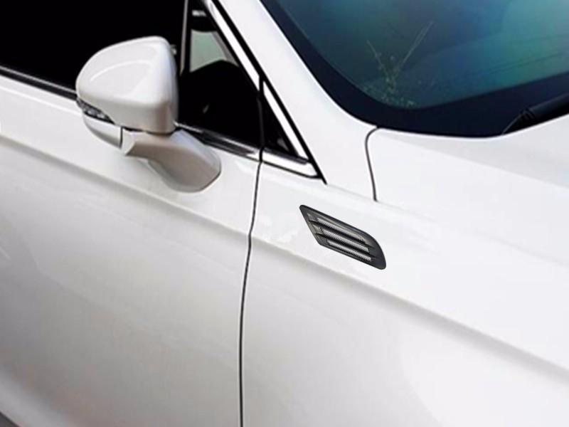 Carbon fiber Car Air Simulation Shark Vent Decorative Sticker For Luxgen 5 7 SUV U6 U7 Turbo/GMC Acadia Envoy Terrain Yukon