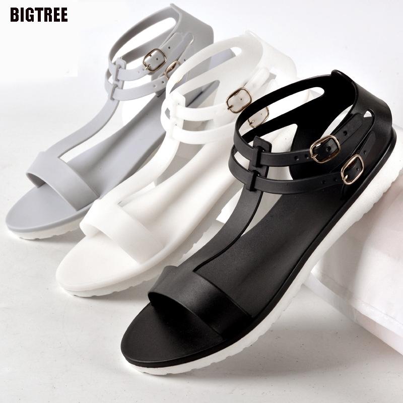 BIGTREE New Fashion Flat Sandals Plastic Women Shoes Summer Woman Sandals 2017 Summer 10 TX(China (Mainland))