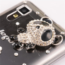 original Floral Rhinestone Case For lenovo A916 luxury Flower Mobile Phone Accessories diamond Crystal bling hard