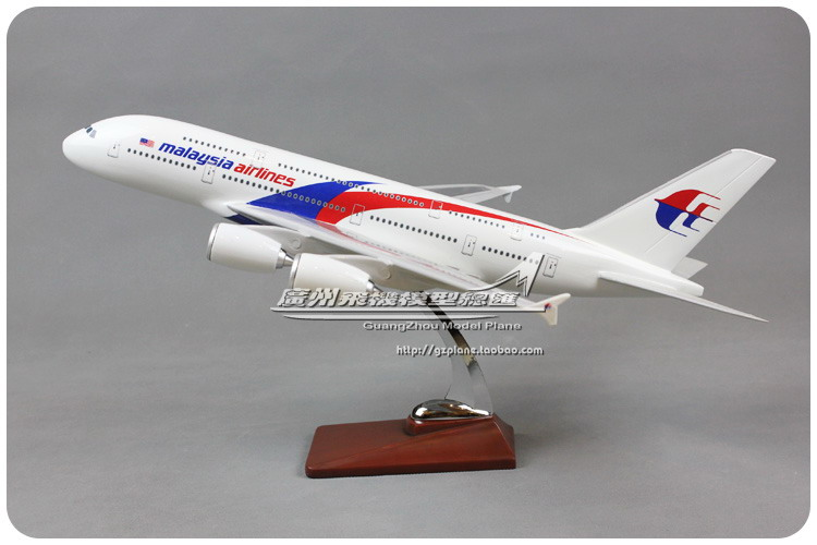 47cm Resin Air Malaysia Airlines Prototype Airbus A380 Airways Plane Model Airplane Model Toy Collections Decoration Gift(China (Mainland))