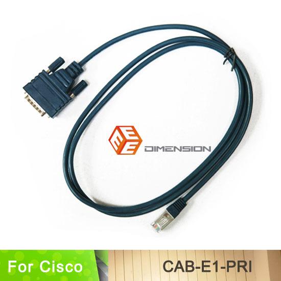 10FT free shipping factory supply CAB-E1-PRI DB15 to RJ45 E1 ISDN PRI router Cable for cisco AS5200 E1(China (Mainland))