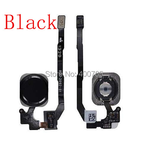 (05S505BFHB)(1PC/Lot)100% High Quality Guarantee for iPhone 5S Black Touch ID Sensor Home Button Flex Cable Ribbon