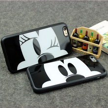 3D Cartoon Soft Silicon Shockproof TPU Mirror Phone Cover For iphone 6 6s 6 Plus Cute Mickey Mouse Mobile Phone Case Funda