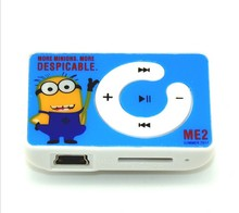 Wholesale Quality Minion Mini MP3 Music Player with TF Card Slot for leisure (no accessories)