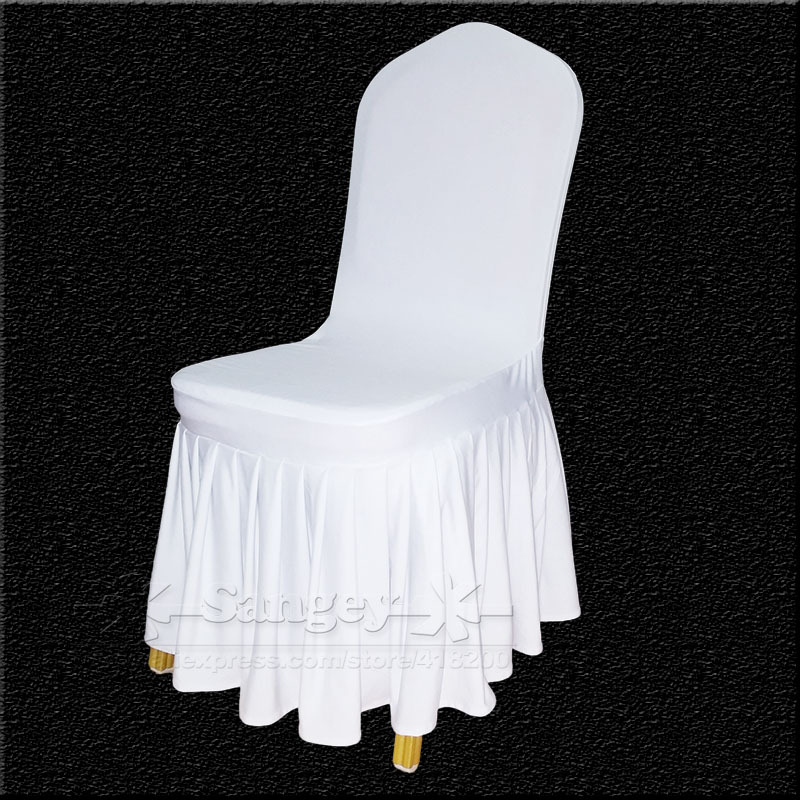 Aliexpress com buy white spandex wedding chair covers for weddings banquet folding hotel