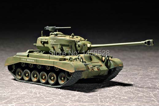 TRUMPETER 07299 1/72 US M26E2 Pershing Heavy Tank Assembly Model kits scale model 3D puzzle vehicle model(China (Mainland))