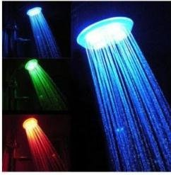 Free shipping Singel Color (Red Blue Green) Showerhead Bath LED Handle K-706