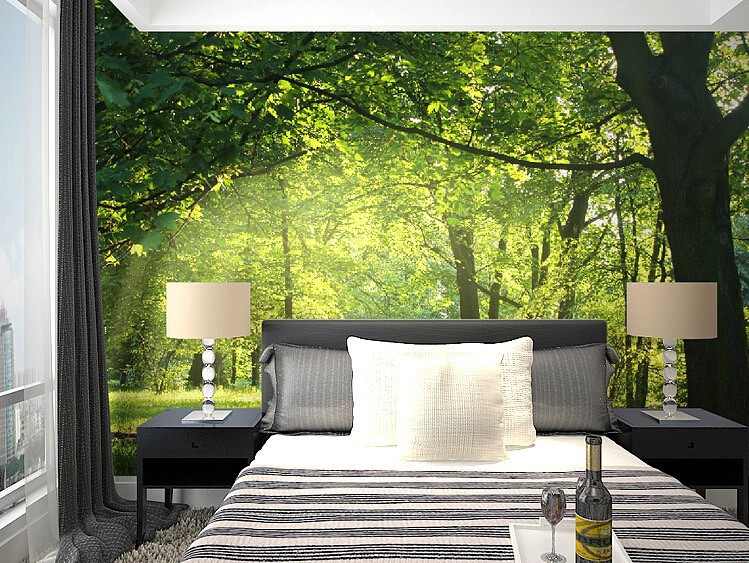 Wall murals photo wallpaper non woven decor panoramic big for Nature wallpaper for bedroom