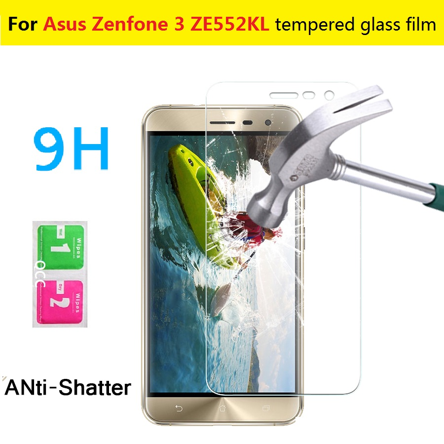 0.3mm 9H 2.5D Explosion-proof Tempered Glass film Asus Zenfone 3 ZE552KL 5.5inch Anti-shatter screen protector HD LCD films - X'MAS GIFT STORE store