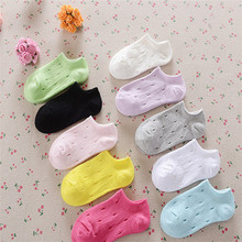 Girls Sale Solid 5pairs/lot 2016 New Cotton Candy Color Socks Invisible Ship Children Tunnel Sports Boat Hollow B-cll047-5(China (Mainland))