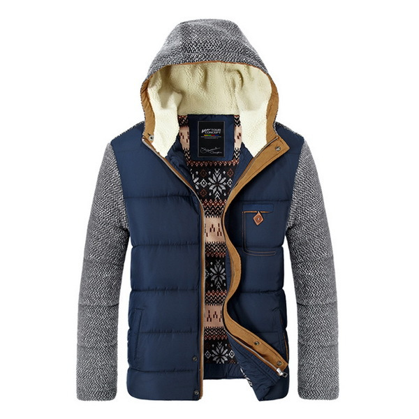 Brand Korean Man Fashion Warm Parkas Size M-2XL Patchwork Design Cotton-Padded Style Young Men Winter Down Jackets(China (Mainland))