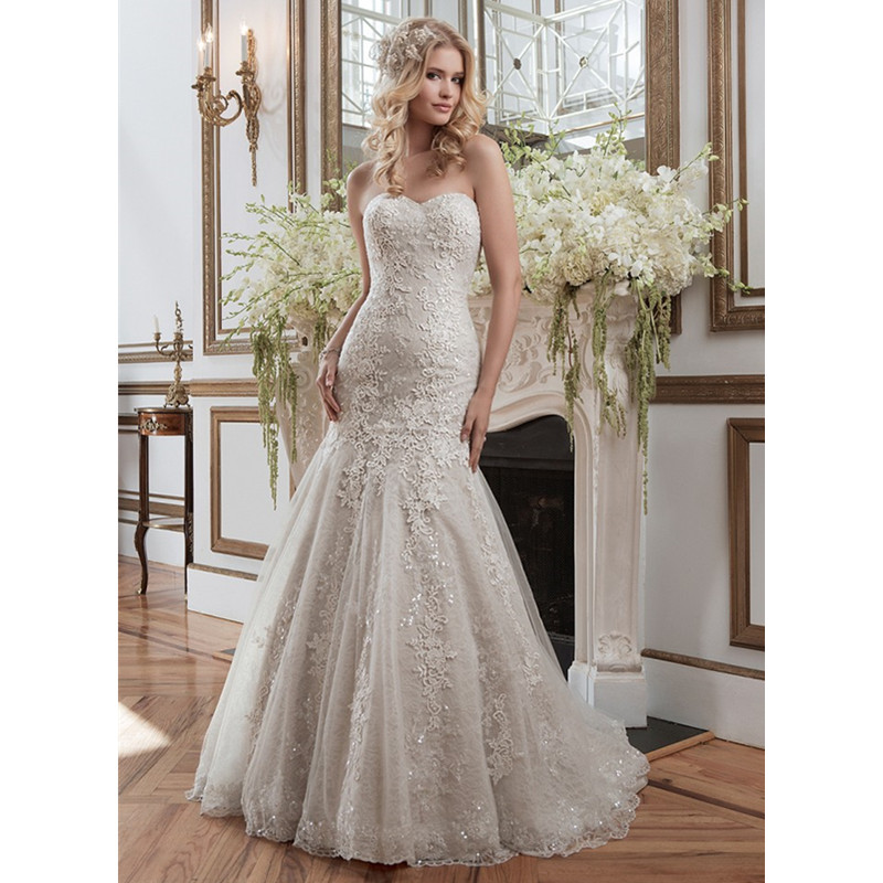 2015 hot sale romantic sweetheart lace mermaid wedding for Romantic vintage lace wedding dresses