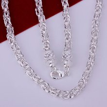 """N048 Men's 925 sterling silver Dragon Head Necklace Chain 6mm 20"""" Wholesale 925 silver Jewelry(China (Mainland))"""