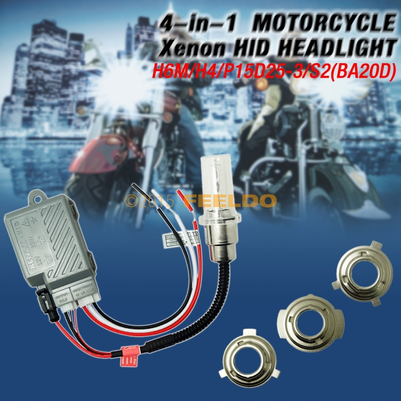 COMPACT MOTORCYCLE 4in1 H6/P15D/H4/P15D25/S2/BA20D BiXenon Hi/Lo Beam HID KIT<br><br>Aliexpress