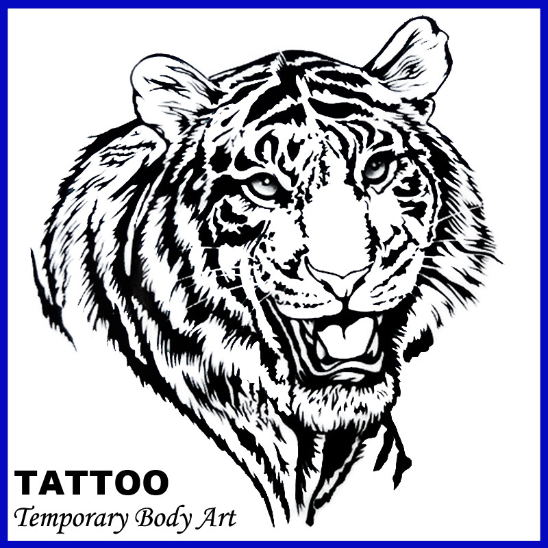 Buy tiger pattern tattoo and get free shipping on
