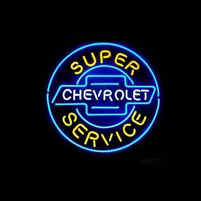 """New Super Chevrolet Service 17""""X17"""" Glass Neon Sign Beer Bar Pub Arts Crsfts Gifts Signs(China (Mainland))"""