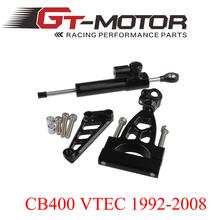 GT Motor – CNC Steering Damper Complete Set for HONDA CB400 VTEC 1999-2012 w/ bracket kits