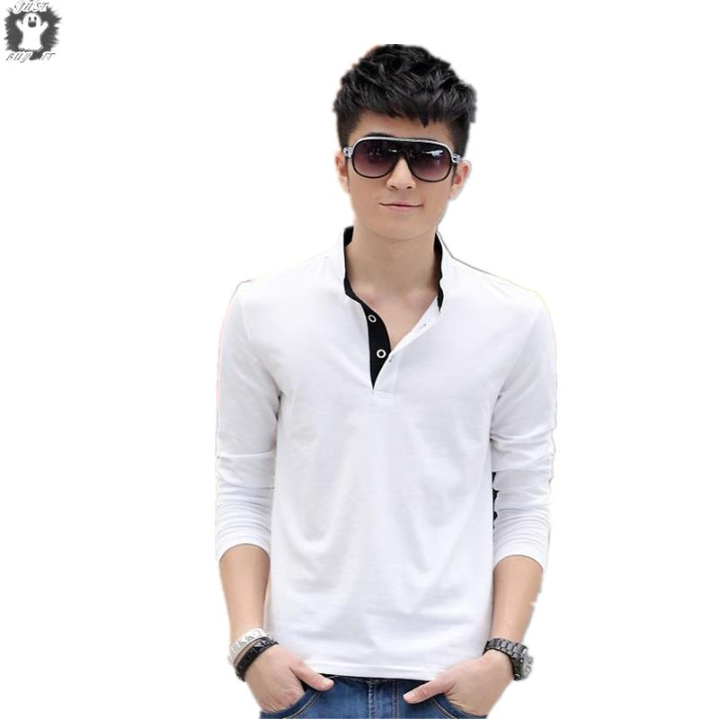 Fashion Design Summer style Skinny T Shirts Men 100% Cotton Top Tees Long Sleeve Man Clothing Round Neck sport T-shirt Solid(China (Mainland))