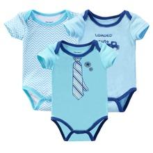 Retail 2016 Baby Girl Bodysuits Body Bebes Newborn 3Pcs/lot Short Baby Clothes 100% Cotton Baby Bodysuit Next Baby Clothing Sets(China (Mainland))