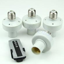 Free Shipping 4x E27 Wireless Remote Control Light Lamp Bulb Holder Cap Socket Switch New(China (Mainland))