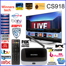 Live Streaming Channel CS918 Q7 MK888 Quad Core Android TV Box Rockchip 3188 Cortex A9 Smart TV Box HD 1080P Arabic IPTV Box