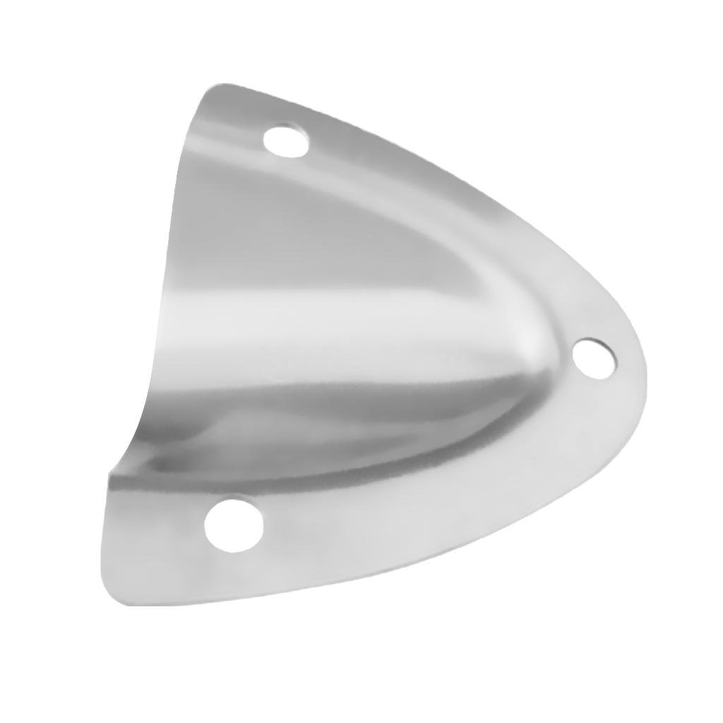 Large Midget Clamshell Ventilator Clam Shell Wire Cable Vent Cover Polished 316 Stainless Steel Boat Marine Hardware