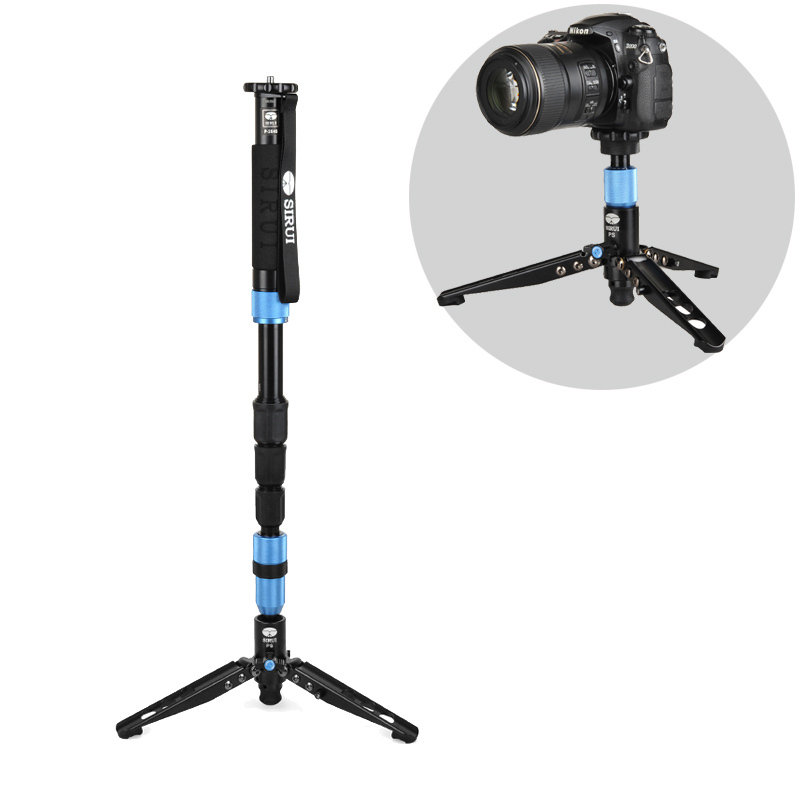 DHL Free Shipping Sirui P-204S P204S Camera Monopod Video Monopods Aluminum Table Top Tripod 4 Section Carrying Bag Max Load 8kg(China (Mainland))