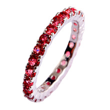 2015 Women New Fashion Party Jewelry Elegant Red Ruby Spinel Silver Plated Ring Size 6 7 8 9 10 11 12 13 Wholesale Free Shipping