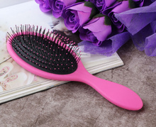 1pc pink wet hair brush tangle detangling comb beauty women styling tools for Indian Brazilian human wig wet or dry hair(China (Mainland))