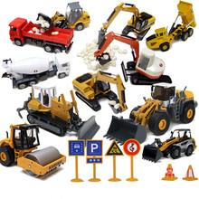 Excavating bulldozer Mixer Engineering vehicle car 1:36 alloy Diecast model car Simulation toys for kids(beibei047)(China (Mainland))