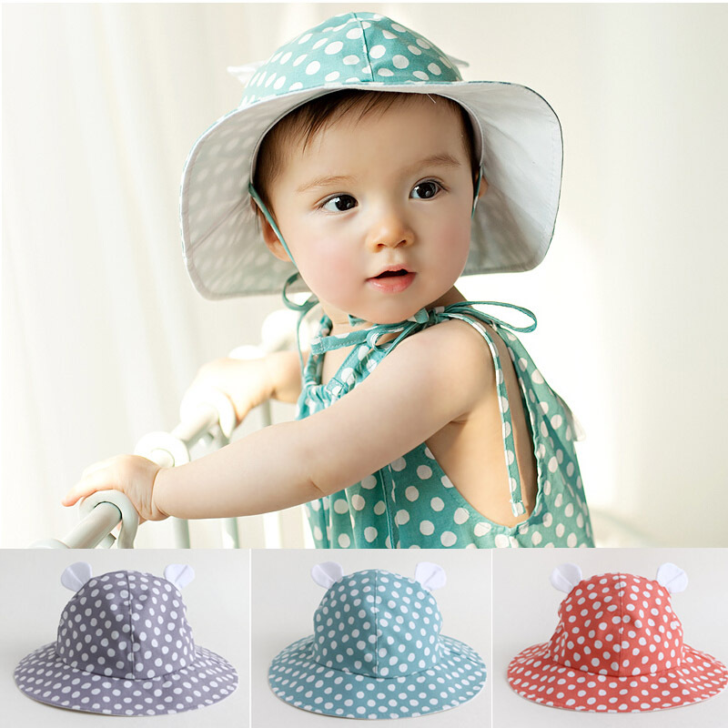 2015 Cartoon Bear child cap baby hat spring and summer bucket hats sunbonnet beach cap for 1-3 years old<br><br>Aliexpress