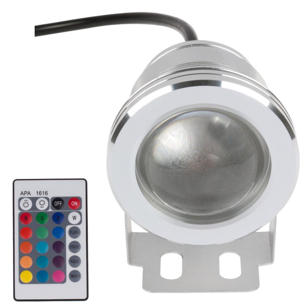 Led Underwater Light RGB 10W 12V Led Underwater Light 16 Colors 1000LM Waterproof IP68 Fountain Pool Lamp Lighting(China (Mainland))
