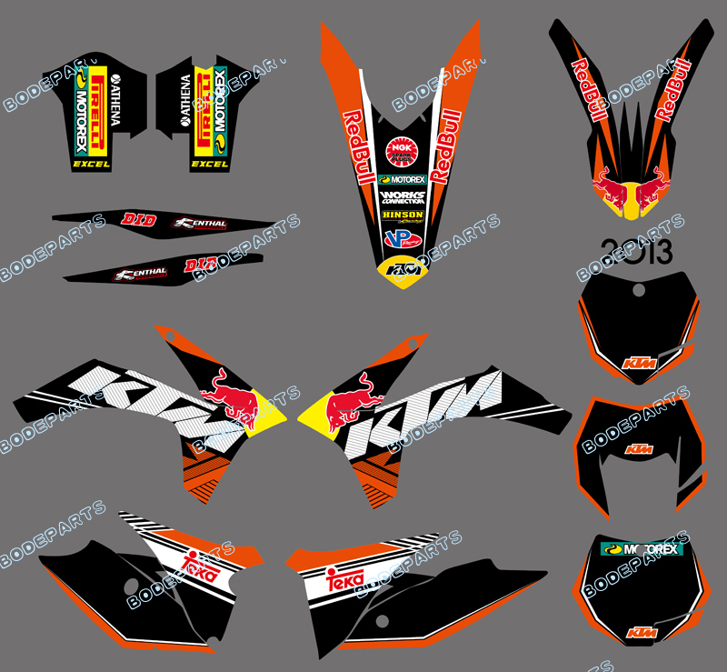 DST0598 (bull )NEW STYLE TEAM GRAPHICS WITH MATCHING BACKGROUNDS FOR KTM 125/200/250/300/350/450/500 EXC 2012-2013 XC 2011 - Yongkang Tongshida Industrial & Trade Co., Ltd. store