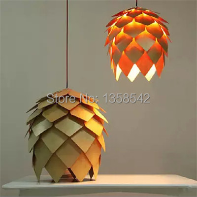 Country Style Design For Wooden Pendant Lighting Dia 25/40/50/60CM Pinecone Lamp For Personalize Home Decor Lamps(China (Mainland))