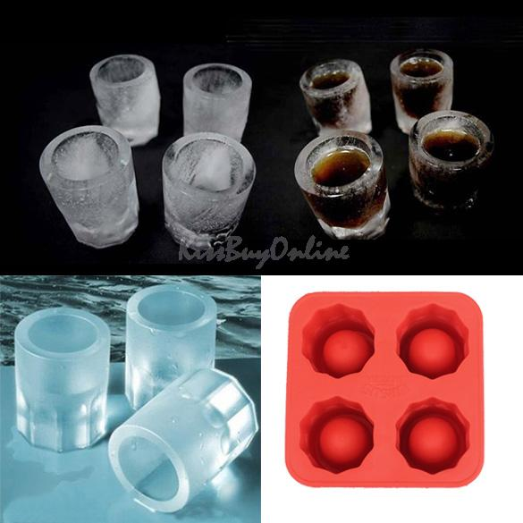 Free Shipping Mini Portable Cool Ice Tray Shooters Supplies Shot Glasses K5BO(China (Mainland))