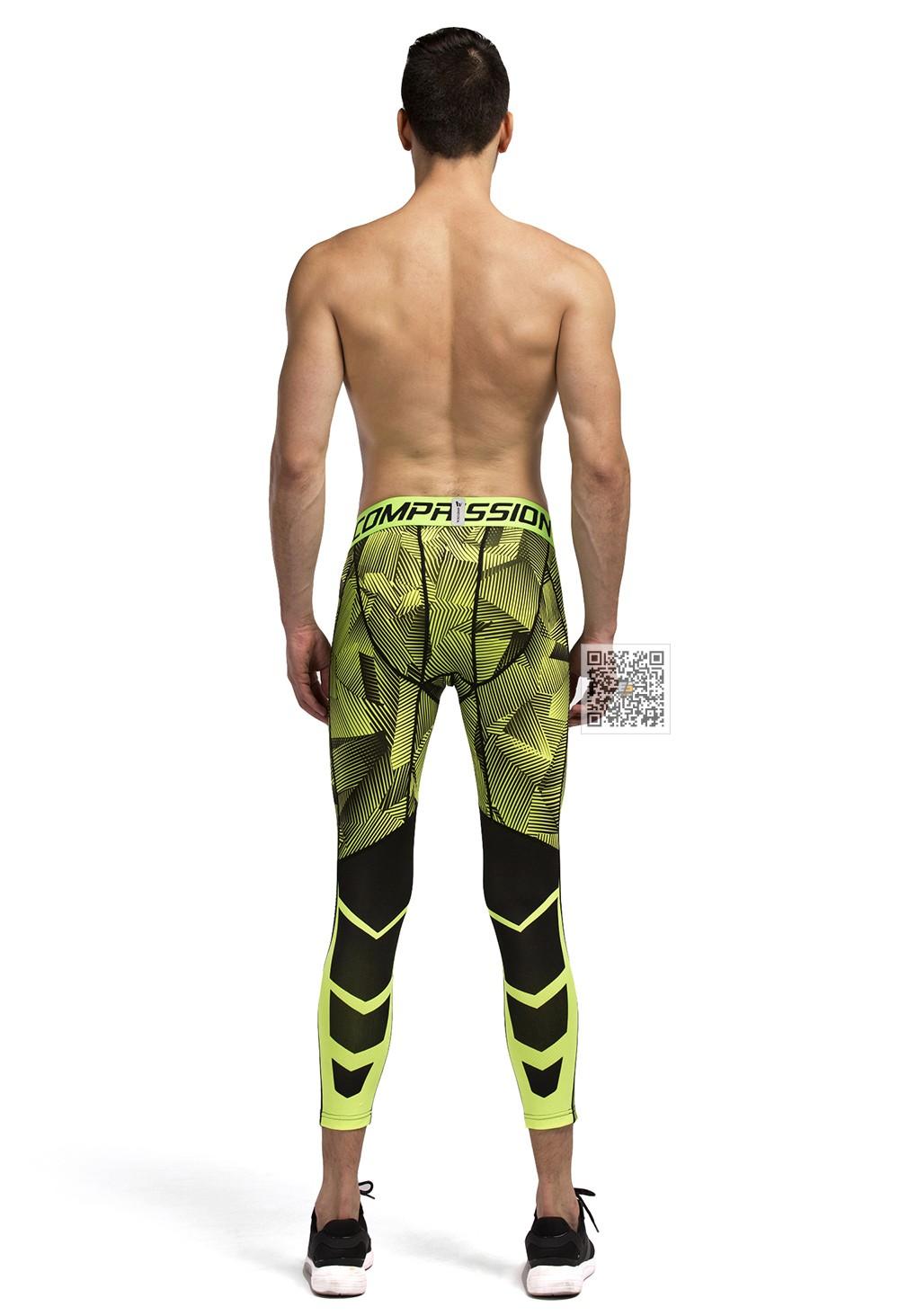 Vansydical Geometric Skinny Sport Yogo Fight Shorts for Men (6)
