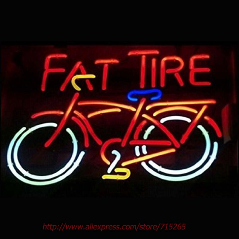 RaRe Fat Tire Neon Sign Neon Bulbs Led Signs Shop Display Custom Real Glass Tube Handcraft Decorated Attract Sign 19x15(China (Mainland))