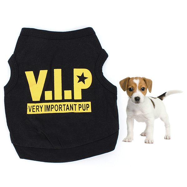 Summer New Puppy VIP Printed Tank Tops Clothing Pet Clothes T Shirt Vest Jumper Small Dog Vest Size XS S M L(China (Mainland))