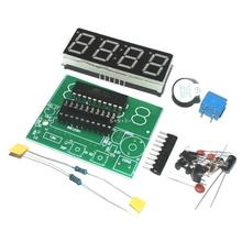Smart Electronics  1set Digital Electronic C51 4 Bits Clock Electronic Production Suite DIY Kits Hot Selling(China (Mainland))