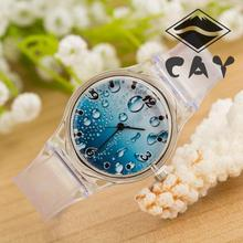 (4632)Transparent Plastic Quartz Students Children Fashion Ladies Women Men Watch big clear dial light Unisex wristwatch Giftes