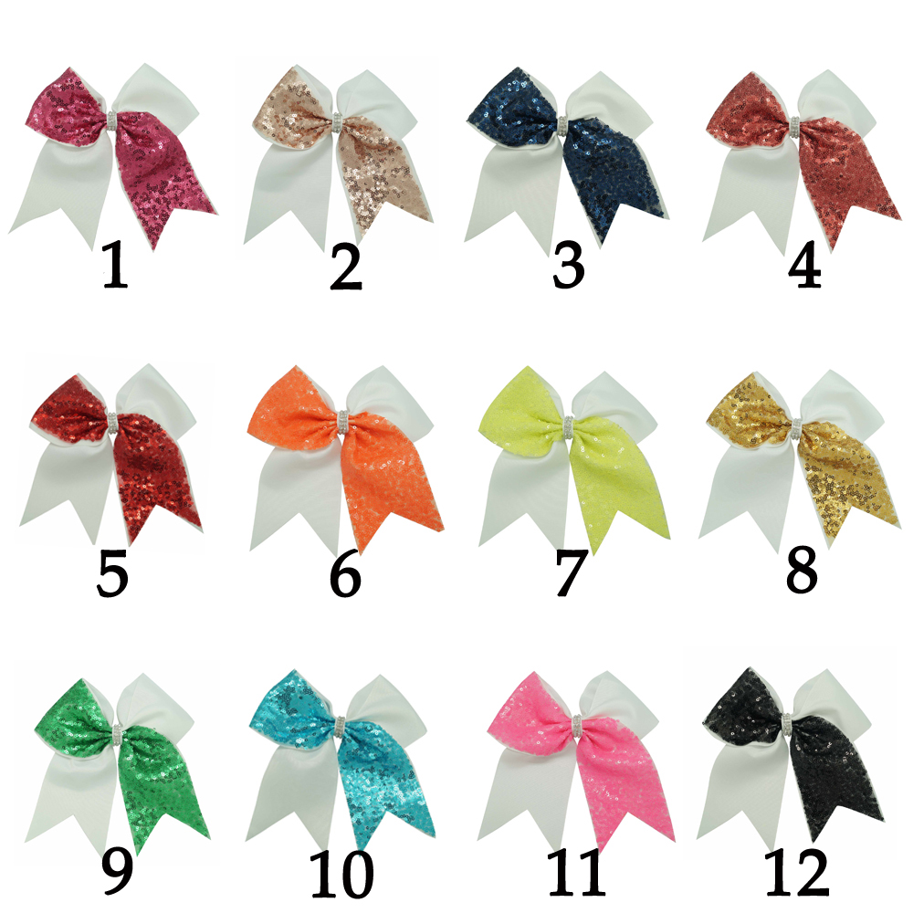 Large Sequin Cheer Bow Crystal Bowknot Hair Band Rope Scrunchie Ponytail Holder For Women Girls Hair Bow Hair AccessoriesОдежда и ак�е��уары<br><br><br>Aliexpress